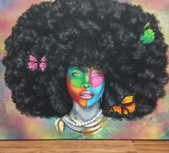 Image result for Afro painting crazy
