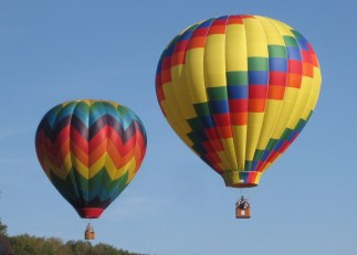 Image result for two hot air balloons